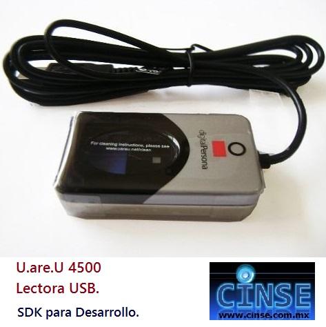 Lector de Huella USB Compacto U are U USB 4500 UAREU 4500
